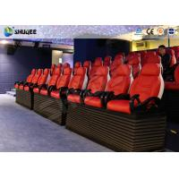 Quality Fiber Glass Ride Experience 5D Movie Theater Simulator System With Red Chair for sale