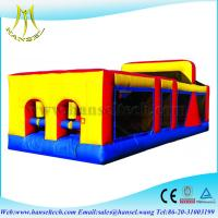 Quality Hansel high quality Funny inflatable tunnel/obstacle course with slide for sale