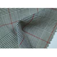 Quality 100% Polyester Cotton Yarn Dyed Fabric / Grey Striped Fabric Eco - Friendly for sale
