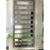 Quality Hurricane-proof Aluminum Glass Louvered windows With Removable Screen,Jalousie louvre for sale