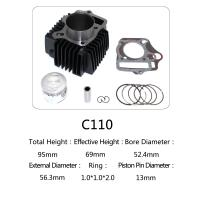 Quality Original Motorcycle Cylinder Kit C110 For Dayang Motor , Motorcycle Engine Parts for sale