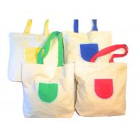 Quality Canvas Tote Shoulder Bags Reusable Beach Bags , Grocery And Shopping Bags for sale