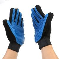 Quality Soft Clean Up Pet Grooming Glove TPE Material Customized Color 23×17 Cm for sale