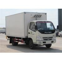 Quality FOTON 6 Wheels small Refrigerated Box Truck , 3 Tons Refrigerator Freezer Truck for sale