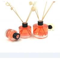 Quality Round 100ML Glass Diffuser Bottles , Fragrance Diffuser Bottles With Reed Sticks for sale