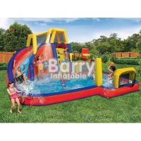 Mobile Attraction Inflatable Water Park Equipment , Splash Water Park For Little Kids for sale