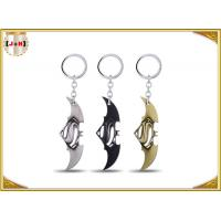 Quality Game Sword Silver Brass Colored Metal Tiny Key Rings For Promotion Zinc Alloy Material for sale