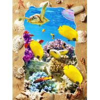 Quality 5d Deep Effect Ocean Feature Images Custom Lenticular Printing For Office / Hotel Decoration for sale