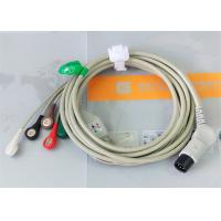 TPU Material Patient Monitor Accessories One Piece ECG Cable Compatible M&B for sale