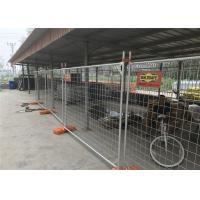 Q235 Steel Materials 10x10 Chain Link Fence Panels / Temporary Metal Fencing
