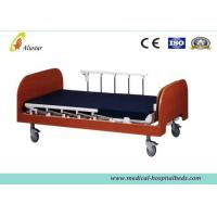 Quality Manual Medical Hospital Adjustable Beds / Nursing Home Bed Wooden Two Cranks (ALS-HM001) for sale