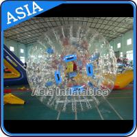 Quality 1.0mm PVC Transparent Used Inflatable Water Zorb For Water Pool for sale
