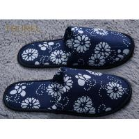 Quality Anti Bacterial And Non Slip Disposable Hotel Slippers Linen Peep Toe for sale