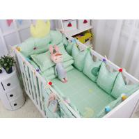 Quality Green Elephant Unique Girl Baby Bedding Sets 100% Cotton Bed Reducer Size Adjustable for sale