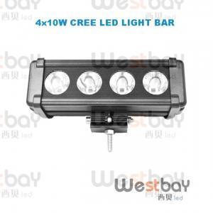 Quality 40W CREE LED Work Light Bar LED Flood Beam Spotlight Beam Bar led light bar for sale