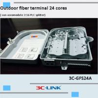 China Poled Mounted Fiber Terminal Box , ABS / PC Material Cable FTTH Termination Box For CATV Networks on sale