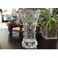Quality 25cm Height Transparent Clear Glass Vases Machine Made Desktop In Stock for sale