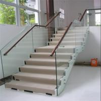 China Wholesale beautiful indoor staircase standoff glass railing on sale