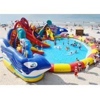 Buy cheap Huge Shark Inflatable Water Parks With Slide For Rent / Blow Up Water Playground from wholesalers
