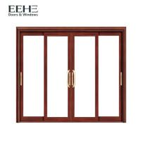 Quality Security White Aluminium Sliding Patio Doors With Heat Transfer Surface Finish for sale