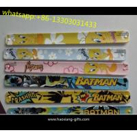 Quality Superior materials new design waterproof silicone slap wristband for kids promotion for sale