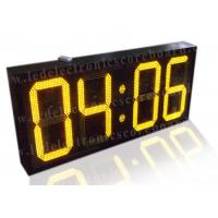 Quality 20 Inch Yellow Color Commercial Digital Clock , Led Display Clock 88 / 88 Format for sale