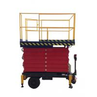AC / DC Motorized Device Mobile Scissor Lift , 2.2Kw Lifting Power