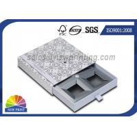 China Handmade Delicate Rigid Slide Box Silver Cardboard Liners Paper Drawer Box on sale