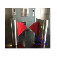 China 90CM width Sliding Card Double Wing access control barriers with automatic sensor on sale