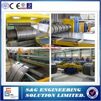 Quality 0.5mm - 3mm Durable Steel Coil Slitting Machine Hr Slitting Line 12T Capacity for sale