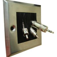 Buy Commercial Ceiling Speakers Wall Plate With Brush 86mm X 86mm at wholesale prices