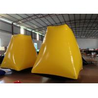 Quality Outdoor Water Park Inflatable Paintball Bunkers 2 X 2 X 2.5m Enviroment - Friendly for sale