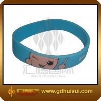 Quality round blue silicone bead bracelet for sale