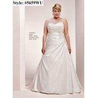 Quality Lace Straps Aline Plus size Lace up bridal gown#5659WU for sale