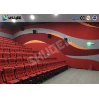 Buy Red Dynamic sitting 4D Movie Theater  , Intellectualized Control , Momentum With Electric at wholesale prices