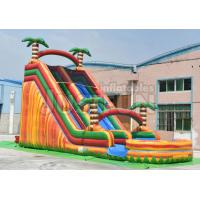 Quality 20ft big jungle pool water slide parts inflatable for kids and adults cheap price for sale
