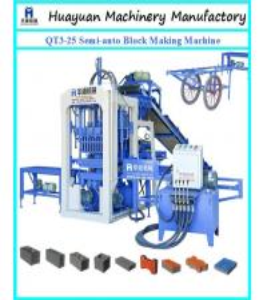 China Semi automatick brick making machine QT3-25 Small scale industries machines on sale