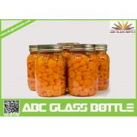 Quality Wholesale glass mason canning jar with screw lid for sale