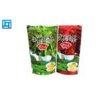 Buy Plastic Printed Resealable Zipper Bags , Zip Lock Stand Up Pouch Packaging at wholesale prices
