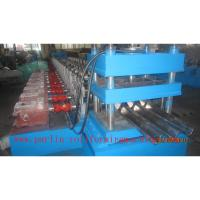 Quality PLC Control Crash Barrie Guardrail Roll Forming Machine , Highway Guardrail Making Line for sale