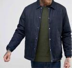 Quality 100% Cotton Denim Mens Flight Jacket With Custom Logo Autumn Season for sale