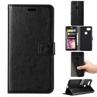 Buy Google Pixel2 Crazy Horse Cell Phone Leather Wallet Case Three Card Slot Tpu Soft Back Cover at wholesale prices