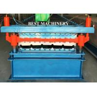 Quality Double Layer Color Coated Roofing Sheet Steel Profile Roll Forming Machine for sale