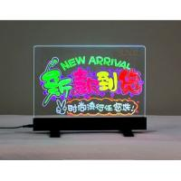 Quality Tabletop Sign Holders Acrylic Advertising Display With Colorful Led Display for sale