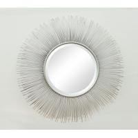 Quality Sunburst Metal Frame Wall  Mirror  with Metal lines100% Handmade in Silver for sale