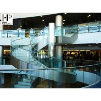 Quality Stainless steel staircase curved staircase glass railing curved stairs for sale
