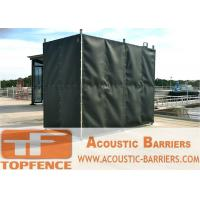Quality Temporary Sound Barriers Fence Covered with Noise Blanket for sale
