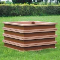 Quality large rectangular planters ecologically flower pots cheap flower pots of wpc material for sale