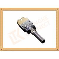 Quality Golden Plated Metal 16 Pin Obd Connector J1962 OBD Male Connecor Housing Strain Relief for sale
