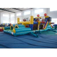 Quality Outdoor Games Inflatable Obstacle Courses Commercial Safe Nontoxic Customized for sale